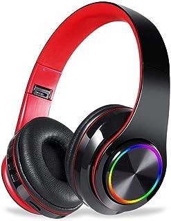 MDHANBK Auriculares Bluetooth inalámbricos con luz LED de Color, Auriculares estéreo de Alta fidelidad, micrófono con Ranu...