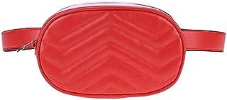 YWSCXMY-AU Waist Bag Women Packs Belt Bag Corduroy Waist Bag (Color : Red)