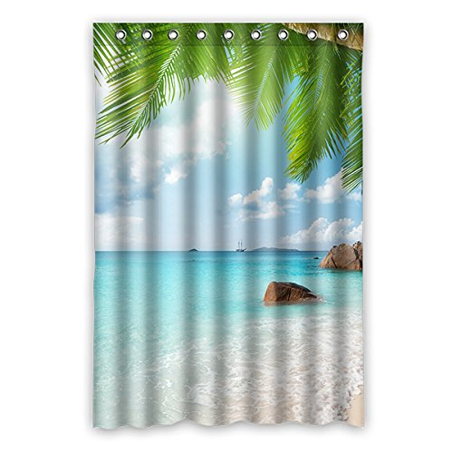 Once Young–Charming Seascape Scenery Duschvorhang Polyester Badezimmer Wasserdicht Decor 121,9x 182,9cm (120x 183cm), Polyester, L, 48