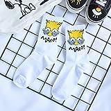 Unisex Pareja Simpson Sesame Street Patrón de Dibujos Animados Calcetines Tobilleros Mujeres Hombres Diversión Animation Mujer Feliz Calcetines de algodón Calcetín Streetwear
