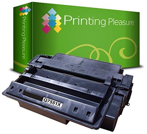 Printing Pleasure Toner kompatibel zu Q7551X 51X für HP Laserjet P3005 P3005D P3005DN P3005DTN P3005N P3005X M3027 M3027X M3027XS M3035 M3035X M3035XS MFP - Schwarz, hohe Kapazität
