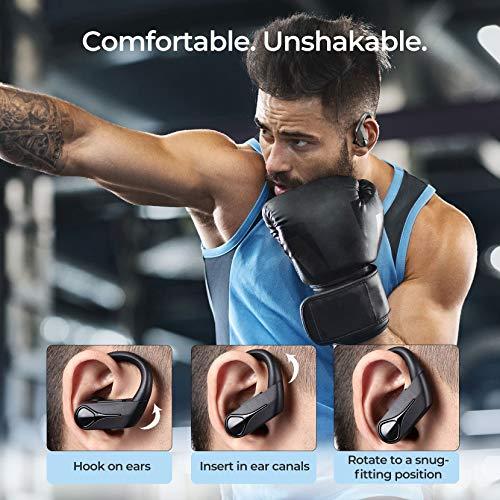 Mpow Flame Solo Bluetooth Kopfhörer, BASS+ In-Ear Sport-Kopfhörer, Kabellose Kopfhörer mit Fast Fuel, 28 Std. Spielzeit/IPX7 Wasserdicht für Joggen, Bluetooth Ohrhörer mit USB-C-Ladebox/HD-Mikrofon