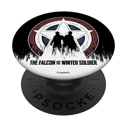 Marvel The Falcon And The Winter Soldier Silhouettes Logo PopSockets PopGrip: Swappable Grip for Phones & Tablets