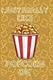 I Just Really Like Popcorn Ok: Sweet and Salty Popcorn Journal Notebook for Popcorn lovers Gifts ~ Perfect for Kids, Teens, and Adults