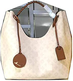 MARIA SCHROEDER Production Iconic Famous Spacious HOBO BAG BIG Size Creme Beautiful Color Amazing Perforated Leather Material With Logos Casual Travel Cosy Luggage Sport Fitness Gym