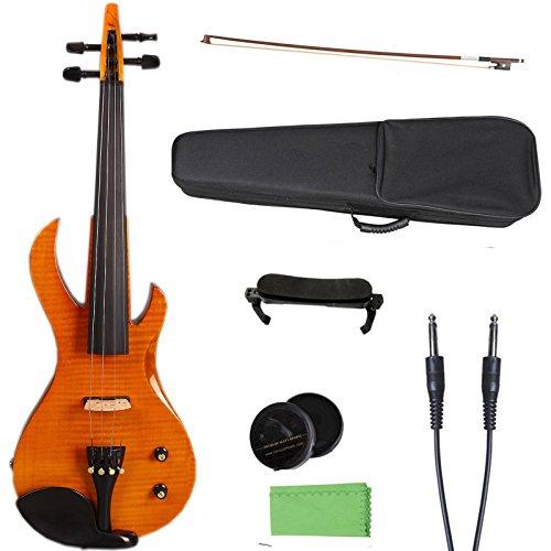 Yinfente 4/4 Violín metálico eléctrico violín...