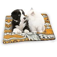 カジュアルキリン柄 アニマル 動物柄 縞柄 民族風 小さいペットマット 犬 ベッド クッション 犬ケージ用敷物 滑り止め 暖かい 愛犬愛猫寒さ対策