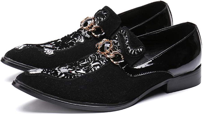 FuweiEncore herrar skor läder Springaa  Autumn Formal Formal Formal skor  Pointed Toe  Business   Party   Evening  Novelty skor  Slip -Ons  Hairstylist (Färg  svart, Storlek  44)  factory outlet online rabatt försäljning