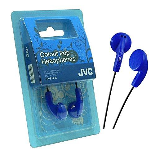 JVC Colour Pop HA-F11-A - Auriculares in-Ear (Cable de 1 m, Jack de 3.5 mm), Color Azul