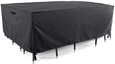 Tempera Patio Furniture Cover, Waterproof, Tear-Resistant, UV Resistant Outdoor Table, Sofa, Sectional Cover, Space Grey, ...