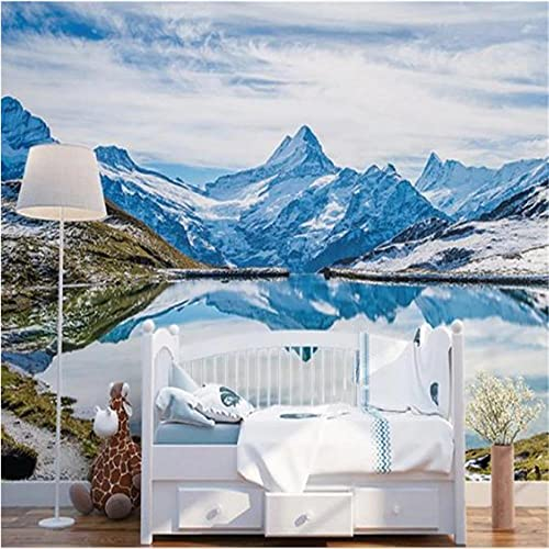 Guyuell 3D Custom Murals Nature Scenery Photo Wallpapers for Living Room Stereoscopic Murals Painting Landscape Home Decor Wall Papers-450X300Cm