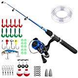Best Fishing Pole For Boys - PLUSINNO Kids Fishing Pole,Light and Portable Telescopic Fishing Review