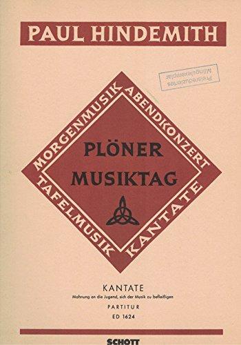 Plöner Musiktag: Kantate C: Mahnung an die Jugend, sich der Musik zu befleißigen. Kinderchor (SMezA) mit Solo, Sprecher und Streichorchester, Bläser und Schlagzeug ad libitum. Partitur.