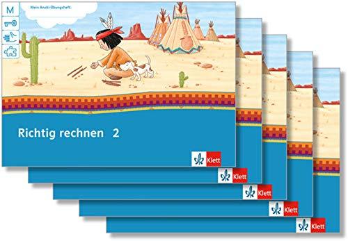 Richtig rechnen 2: Übungsheft Paket (VE 5) Klasse 2 (Mein Anoki-Übungsheft)