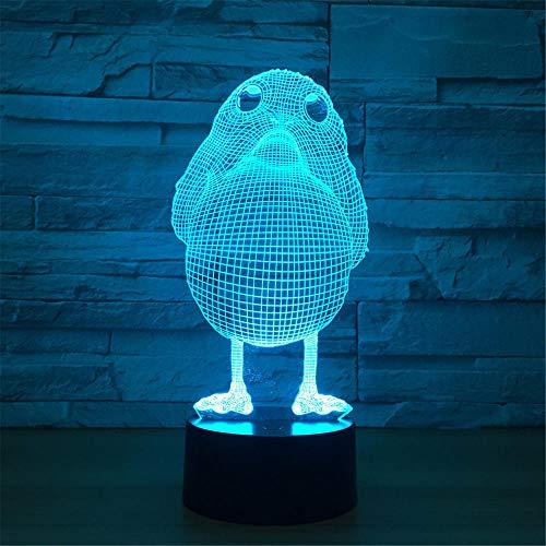 Nachtlampje vogel kinderen nachtlampje 3D optische illusie 7 kleuren veranderende verlichting verjaardag Kerstmis verbazingwekkende cadeaus voor baby kinderen meisjes