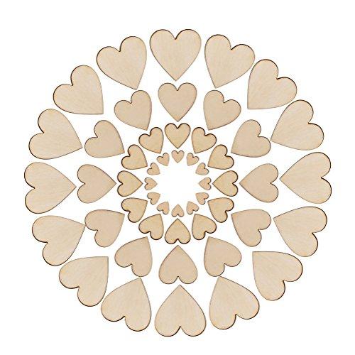 Ccinee Farfalle in legno naturale di dimensioni miste per artigianato in legno e decorazioni in stile shabby chic, confezione da 100 pezzi Ax071s1p100