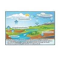 Assanu 子供用バスラグ子供向け科学教育の普及地球の水循環滑り止め玄関マット玄関屋内玄関マット子供用バスマット15.7x23.6inバスルームアクセサリー