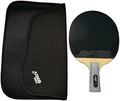 Raquete de tênis de mesa DHS 6006 série SUPERSTAR com um protetor de borracha Landson, 6006