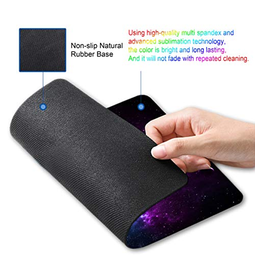 Shalysong Mouse pad Customized Mousepad Non-Slip Rubber Base Mouse Pads for Computers Laptop Office Desk Accessories Nebula Galaxy Mouse pad Photo #7