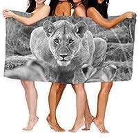女性用ビーチタオル男性用毛布女性用ライオンスケッチバスシート素敵な100%ポリエステルキャンプヨガマットテントフロア用の大きなタオルカバー