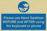 Si prega di utilizzare disinfettante per le mani prima e dopo l'uso della tastiera o del telefono.