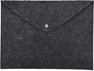 Pochette Porte-documents A4 en feutre avec Bouton Pression et Poche Parfait Porte Document pour conférence, bureau, affair...