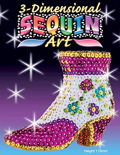 MAMMUT 8101507 - 3D Sequin Art Paillettenfigur Stiefelette, Schuh, Steckform, Bastelset mit...