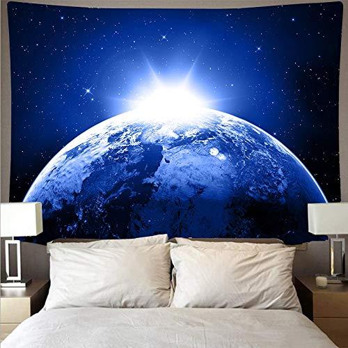 Misterioso universo cielo estrellado espacio galaxia arte tapiz psicodélico colgante de pared toalla de playa tela colgante A2 150x200cm
