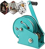 Amberbaby Hand Crank Winch, Portable Cable Gear Winch with Self-Locking Function, Two-Way Ratchet Hand Winch for Heavy Hoist or Traction, Multifunction Handle Winch for Boat Trailer
