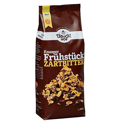 Bauckhof Knusperfrühstück Zartbitter glutenfrei, 3er Pack (3 x 300 g) - Bio