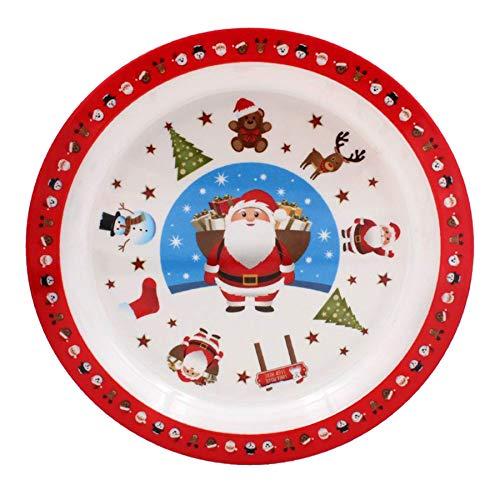 The Leonardo Collection Weihnachtsgeschirr für Kinder, Motiv: kleine Sterne, 22 cm Teller