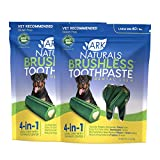 Ark Naturals Brushless Toothpaste, Dog Dental Chews for Large Breeds, Vet Recommended for Plaque, Bacteria & Tartar Control, 2 Pack