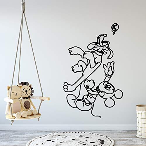 Tianpengyuanshuai muurstickers, muis, creatief, afneembaar, decoratie van het huis