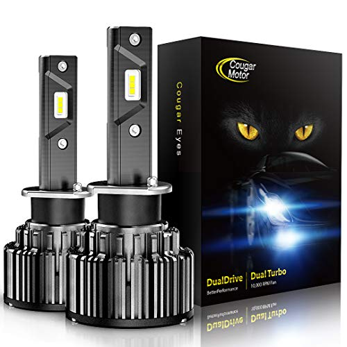 Cougar Motor LED Headlight Bulbs Conversion Kit - 880 881 (893, 899) -10000Lm 6000K Cool White CREE
