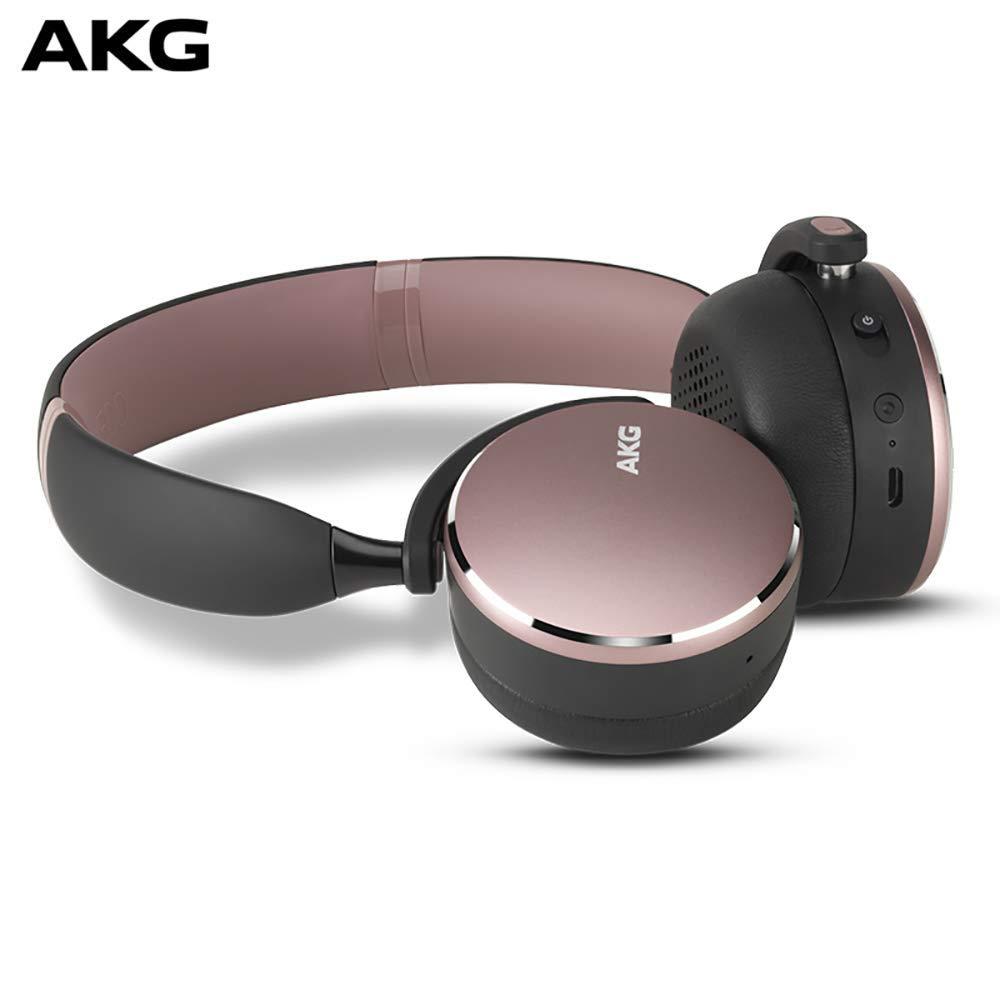 AKG Y500ワイヤレスワイヤレスBluetoothヘッドセットヘッドセットゲーミングヘッドセット普遍的な環境意識はピンクを話すことができます