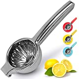 Lemon Squeezer Stainless Steel with Premium Quality Heavy Duty Solid Metal Squeezer Bowl - Large Manual Citrus...
