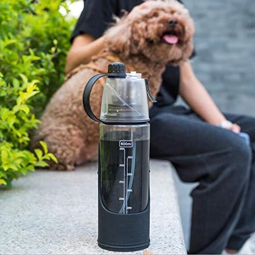 LINGNING Botella de Perro Personal Pet Dual PROPÓSITO Pet Spray Tipo Portable CUCHA por Perro Perro Producto Fountain ZPF Botella de Agua de Viaje para Perros (Color : Black)