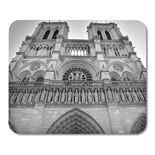 Rae Esthe Tappetini per Mouse Parigi Francia 12 Ottobre Tappetino per Mouse cattedrale di Notre Dame per Notebook, Computer Desktop, Tappetini per Ufficio