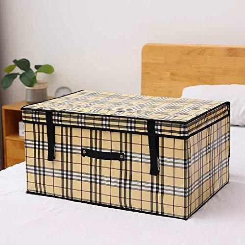 Caja de almacenamiento de tela plegable con tapa, no tejida, para ropa o colcha, 30 l