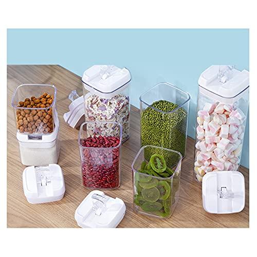 MDZZ Recipientes de Almacenamiento de Cereales Botes Cocina Alimentos Se Mantiene Fresco Almacenar Cereales, Avena, Pasta, Galletas, Etc Botes de Cocina