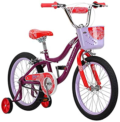 Schwinn Elm Girls Bike for Toddlers and Kids, 18-Inch Wheels, Purple
