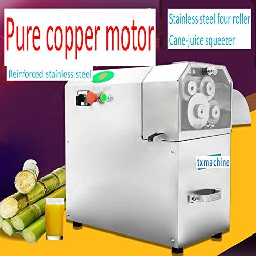 TX® 750W vertical sugarcane machine sugar cane juice machine 4-rollders cane-juice squeezer,cane crusher,Cane Grind Press Machine Sugar cane juicer with control panel (220V/50HZ)
