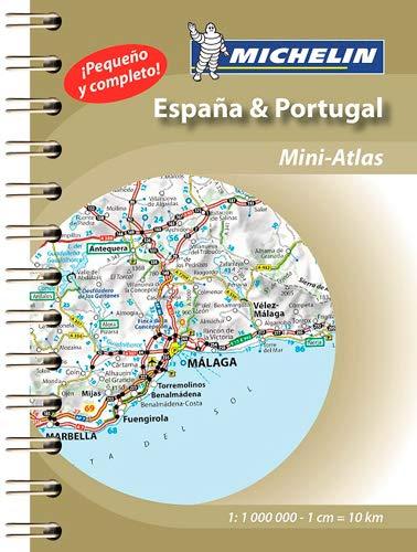 España & Portugal (Mini Atlas): Mini Atlas Spiral (Atlas de carreteras Michelin)