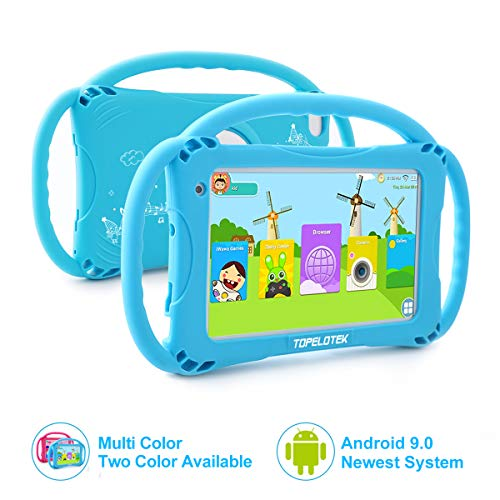 Tablet für Kinder,7 Zoll Kinder Tablet mit Kindersicherungsmodus,2GB+16GB Speicherraum,Android 8.1,2Mp Kamera,Screen Augenschutz,WiFi,Bluetooth & Google Play,Silikon Hülle Tablet