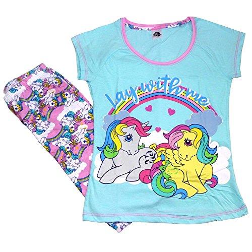 Pijamas para mujer Lora Dora, suaves, de algodón, pantalones largos con dibujos para regalar en Navidad, tallas 36-50 Verde Acuéstate conmigo 40/42 ES