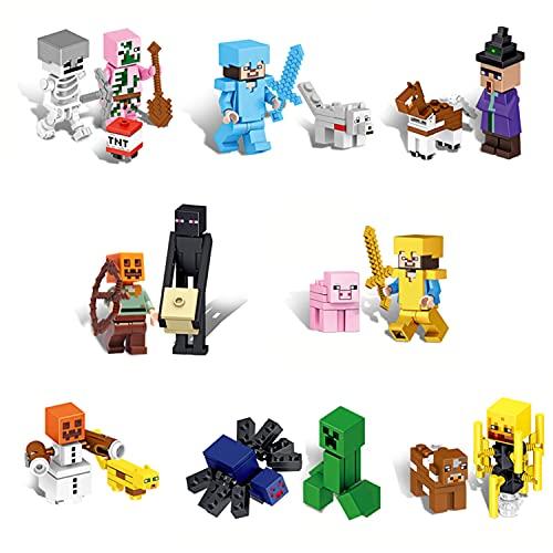 16-Pack Stitching Mine-Craft Figure Set -...
