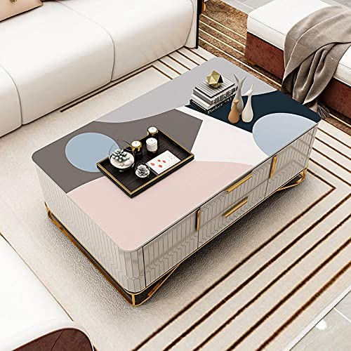 Mantel A Prueba De Agua Y Lavado Libre De Aceite PVC Mesa De Comedor Almohadilla Moderna Simple Sala De Estar Cuero-2_85 * 135Cm