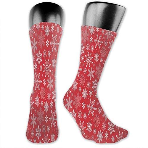 Snowflake Ch^Christmasas Holiday madam and Mens Cojín de algodón para caminar deportes senderismo calcetines de invierno cálido trabajo calcetines