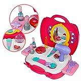 Set Bellezza Kit del make up Fingere il trucco Principessa rosa Regalo di Natale per bambini 3 4 5 6 anni