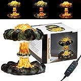 3D Mushroom Cloud Nuclear Explosion lamp,Atomic Bomb Model Atmosphere lamp, USB Control LED Lamp Dimmable Lamp Night Lamp, 7-Colors Volcanic Creative Decoration Night Lamp